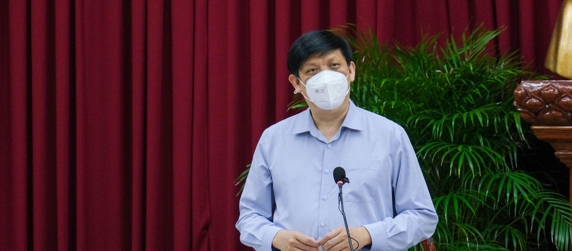 Bộ trưởng Bộ Y tế Nguyễn Thanh Long phát biểu tại buổi làm việc - Sputnik Việt Nam, 1920, 31.07.2021