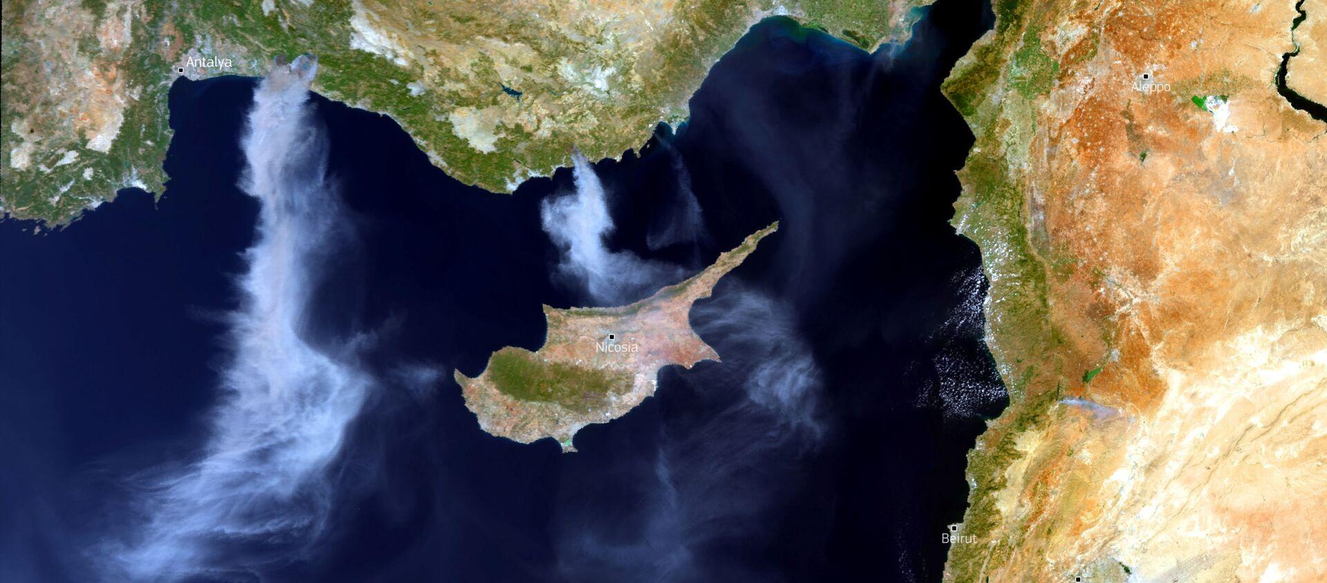 Hình ảnh vệ tinh về cháy rừng ở Thổ Nhĩ Kỳ - Sputnik Việt Nam, 1920, 02.08.2021