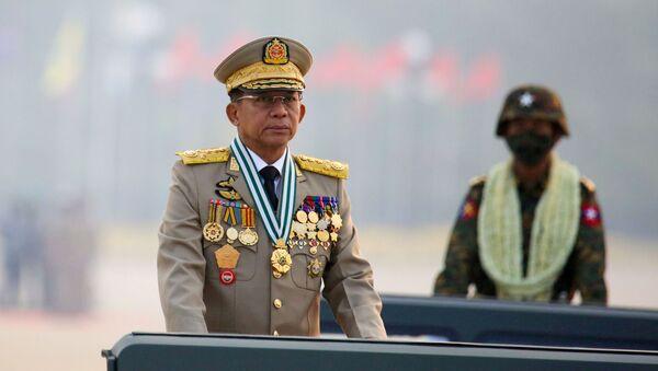Thống tướng Min Aung Hlaing, người đứng đầu chính quyền quân sự Myanmar - Sputnik Việt Nam
