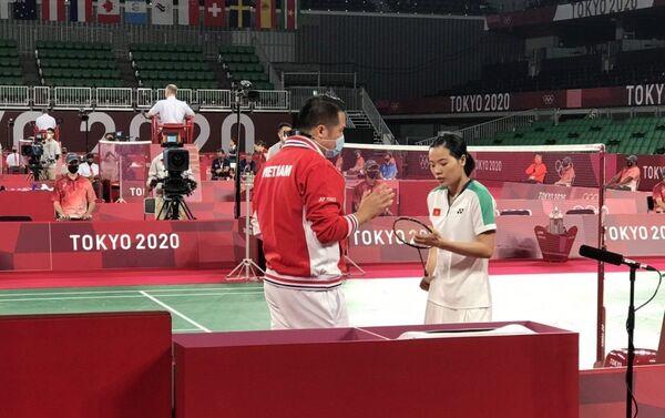 Tay vợt Thùy Linh giành thắng lợi trong trận mở màn. - Sputnik Việt Nam