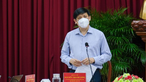 Bộ trưởng Bộ Y tế Nguyễn Thanh Long phát biểu tại buổi làm việc. - Sputnik Việt Nam