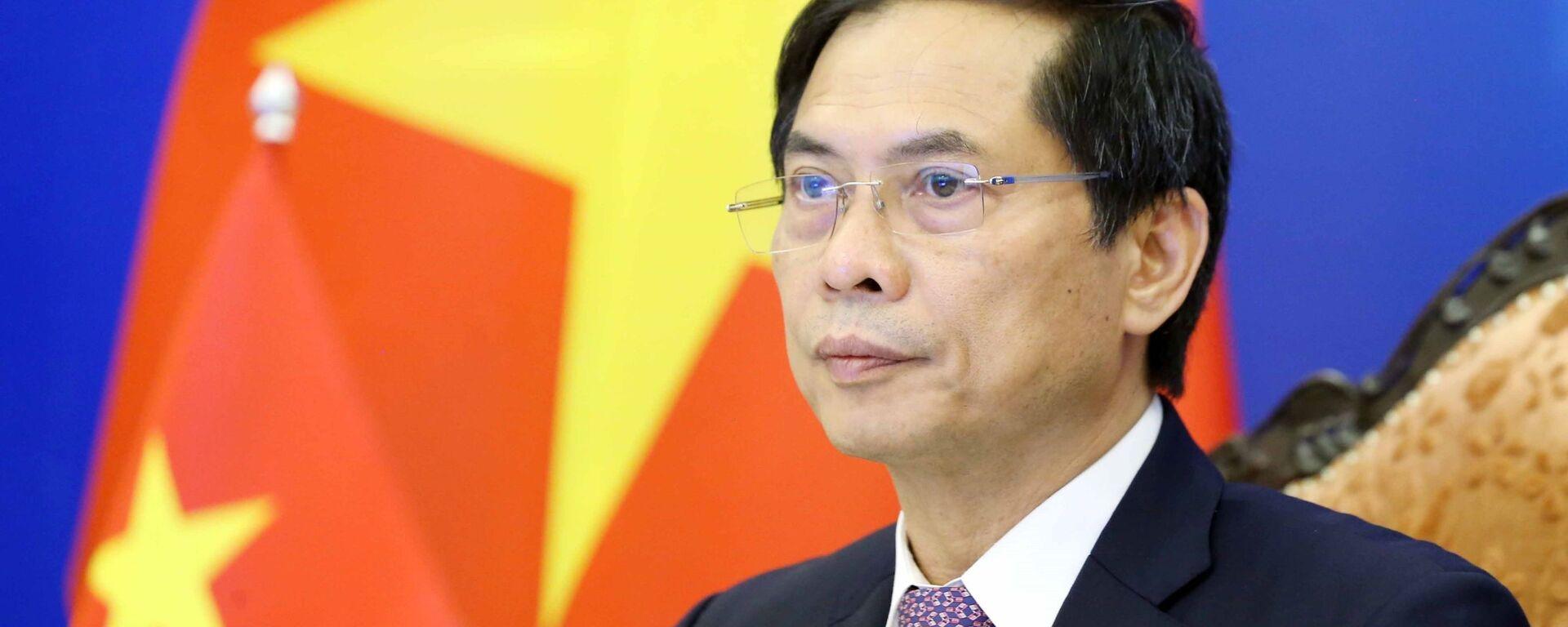 Bộ trưởng Bộ Ngoại giao Bùi Thanh Sơn dự Hội nghị Hợp tác Mekong - Nhật Bản lần thứ 14 theo hình thức trực tuyến.  - Sputnik Việt Nam, 1920, 28.09.2021
