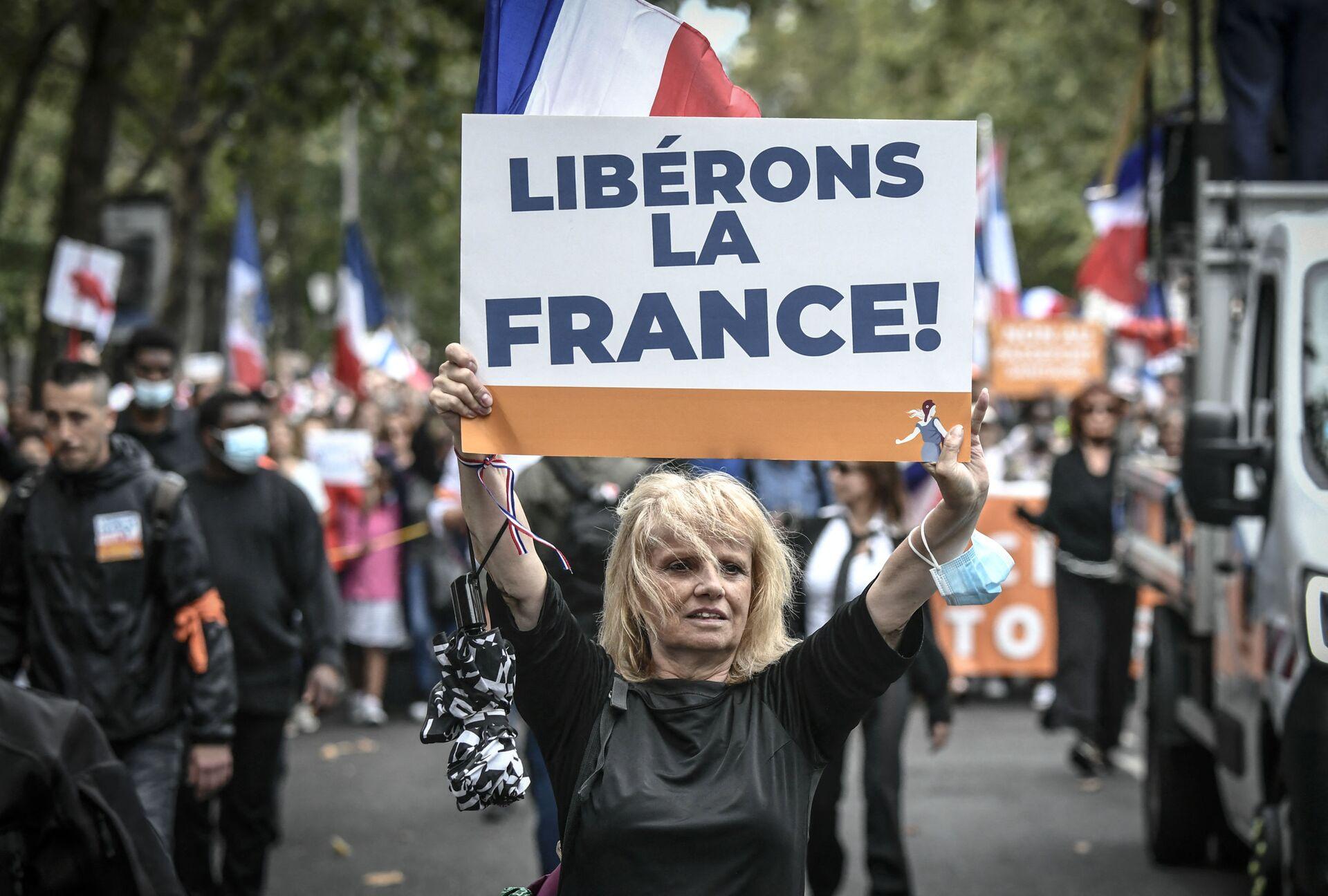 Phong trào biểu tình chống lại thẻ vệ sinh ở Pháp - Sputnik Việt Nam, 1920, 05.10.2021