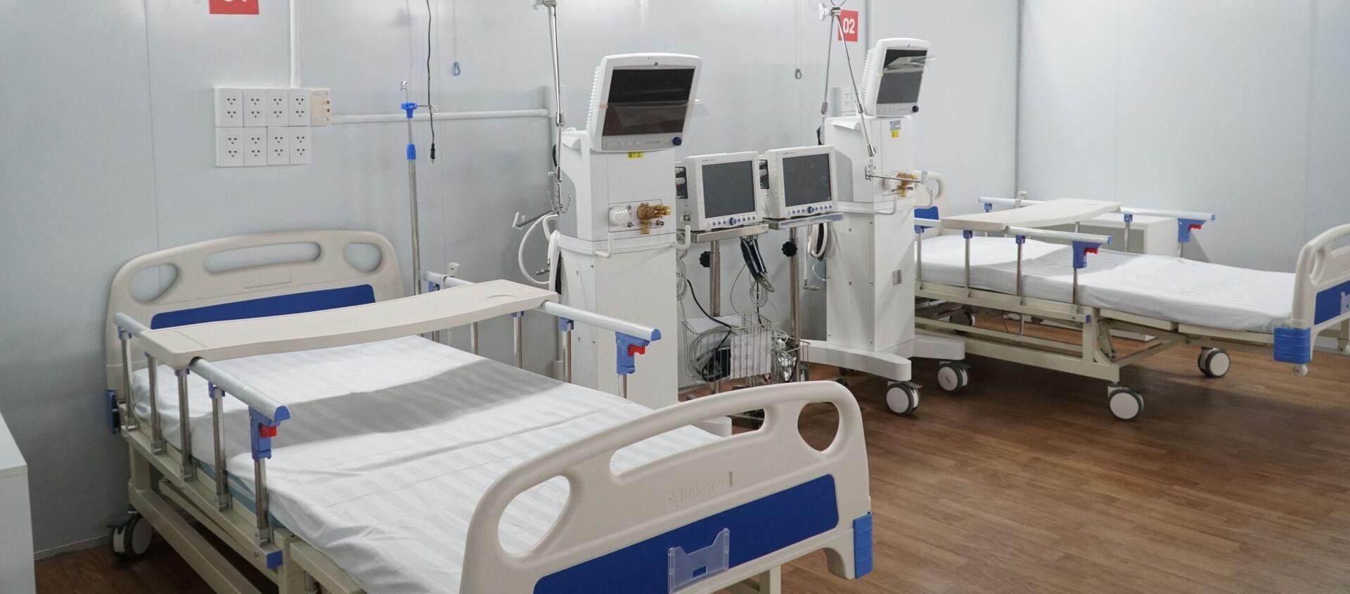 Giường bệnh, trang thiết bị y tế tại trung tâm - Sputnik Việt Nam, 1920, 08.08.2021