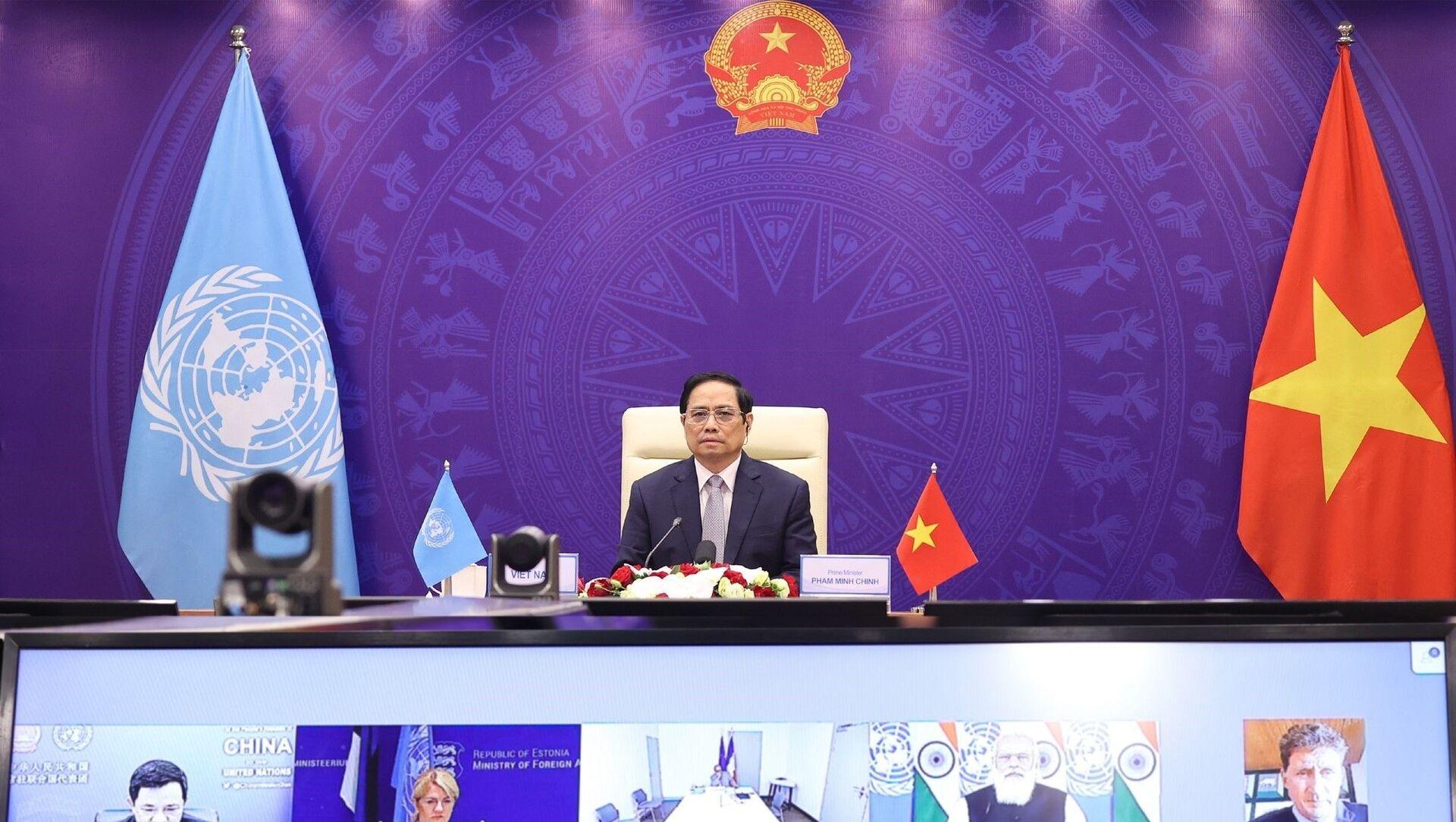 Thủ tướng Phạm Minh Chính tham dự Phiên thảo luận mở Cấp cao của Hội đồng Bảo an Liên hợp quốc - Sputnik Việt Nam, 1920, 13.08.2021