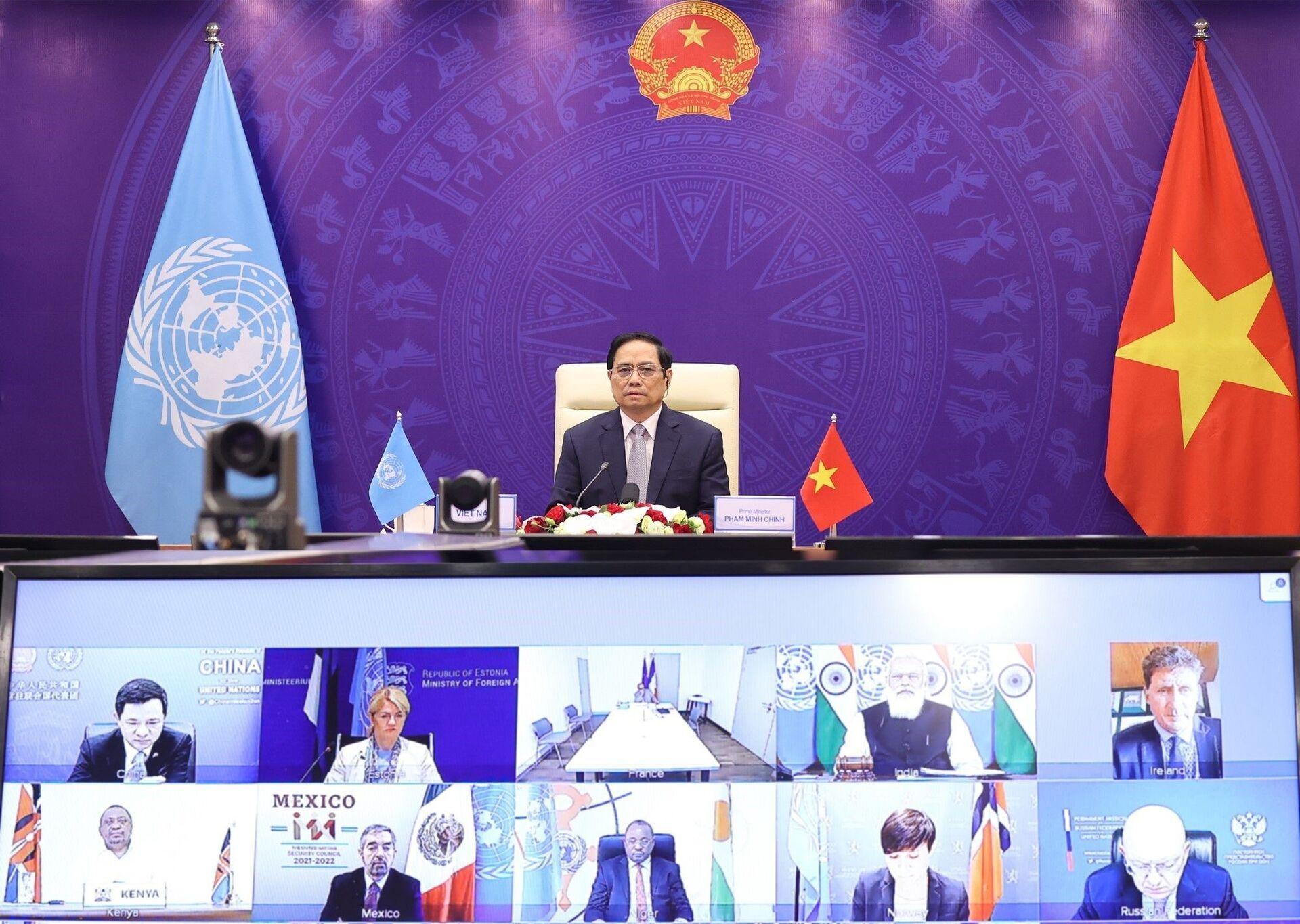 Thủ tướng Phạm Minh Chính tham dự Phiên thảo luận mở Cấp cao của Hội đồng Bảo an Liên hợp quốc - Sputnik Việt Nam, 1920, 05.10.2021