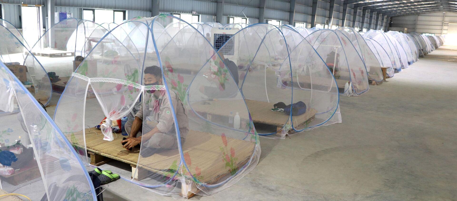 """COVID-19: Hải Phòng triển khai thí điểm phương án """"3 tại chỗ"""" ở một số doanh nghiệp trong khu công nghiệp - Sputnik Việt Nam, 1920, 12.08.2021"""