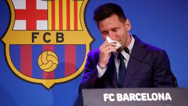 Lionel Messi trong cuộc họp báo - Sputnik Việt Nam