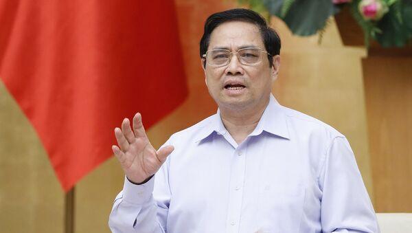 Thủ tướng Phạm Minh Chính phát biểu chỉ đạo - Sputnik Việt Nam