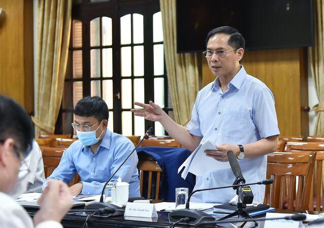 Bộ trưởng Ngoại giao Bùi Thanh Sơn và Tổ công tác của Chính phủ về ngoại giao vaccine triển khai nhiệm vụ