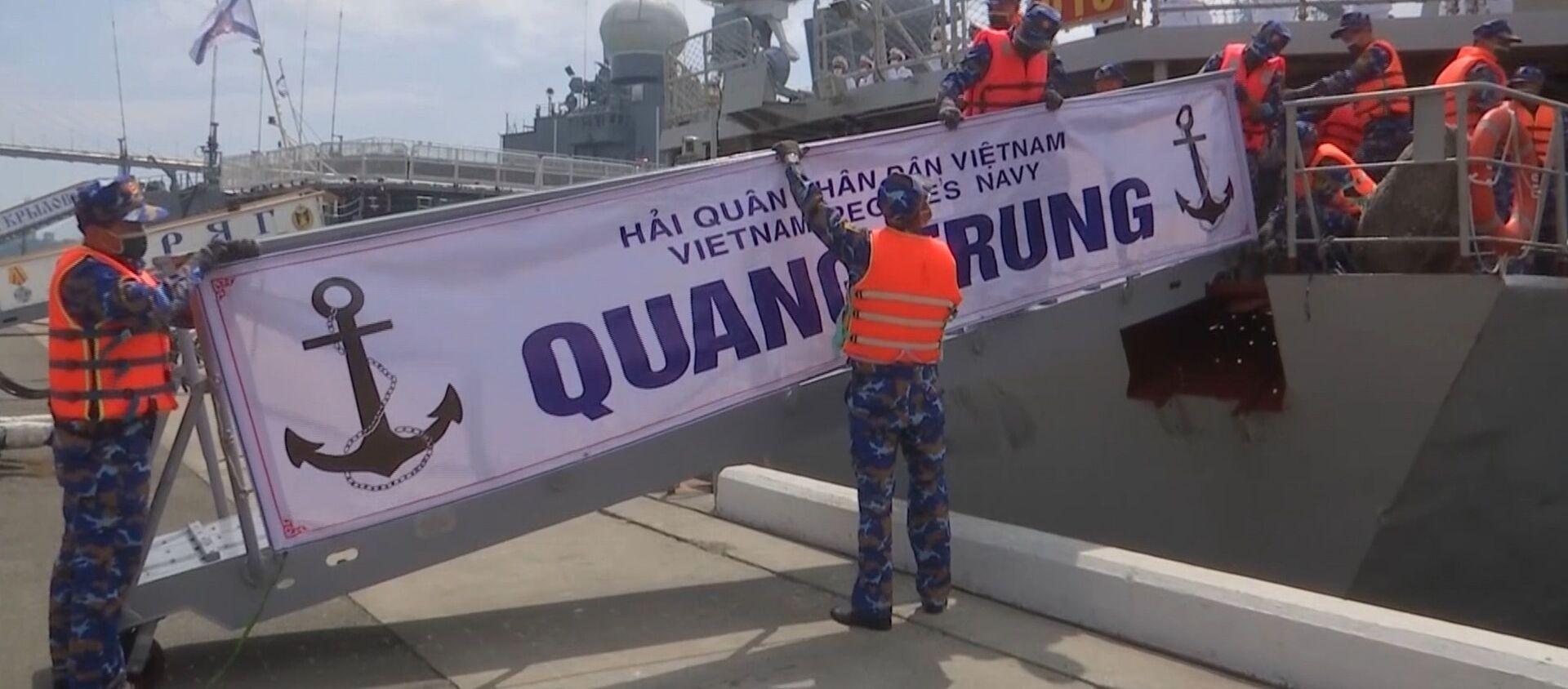 Các chiến hạm của Hải quân Việt Nam được chào đón long trọng tại bến tàu của Hạm đội Thái Bình Dương trong khuôn khổ cuộc thi Cúp Biển - Sputnik Việt Nam, 1920, 23.08.2021