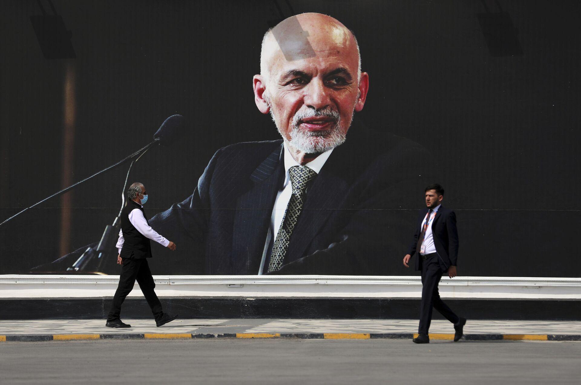 Ảnh chụp Tổng thống Afghanistan Ashraf Ghani tại Sân bay Quốc tế Kabul - Sputnik Việt Nam, 1920, 05.10.2021