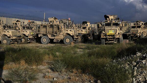 Xe bọc thép MRAP của Mỹ dựa trên Bagram ở Afghanistan - Sputnik Việt Nam