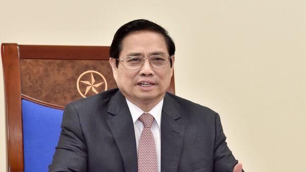 Thủ tướng Phạm Minh Chính điện đàm với Tổng Giám đốc Tập đoàn AstraZeneca Pascal Soriot. - Sputnik Việt Nam