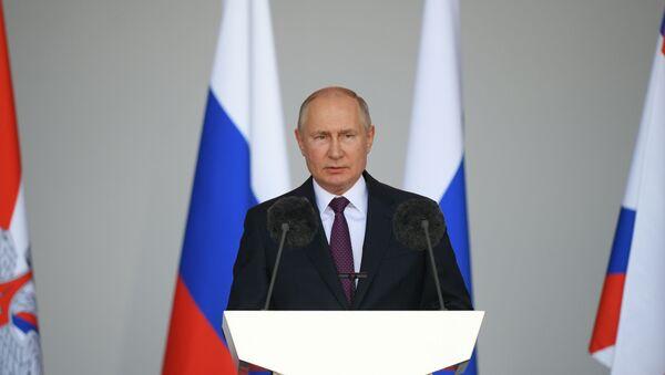 Tổng thống Nga Vladimir Putin tham gia lễ khai mạc Diễn đàn ARMY-2021 - Sputnik Việt Nam