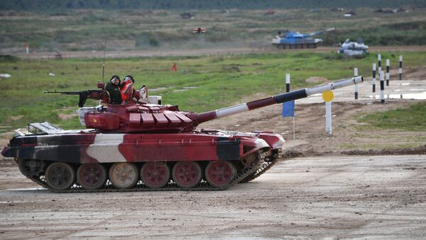 Xe tăng của Quân đội Nhân dân Việt Nam trên đường đua Tank Biathlon - Sputnik Việt Nam