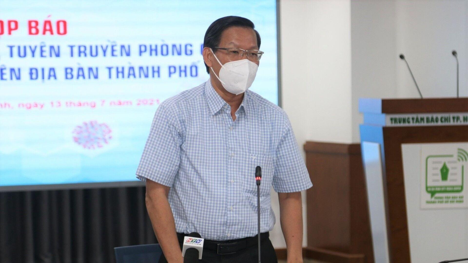 Ông Phan Văn Mãi phát biểu tại buổi họp báo - Sputnik Việt Nam, 1920, 24.08.2021