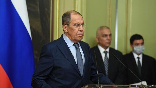 Hội nghị Bộ trưởng Ngoại giao Liên bang Nga và Libya S. Lavrov và N. Mankush - Sputnik Việt Nam