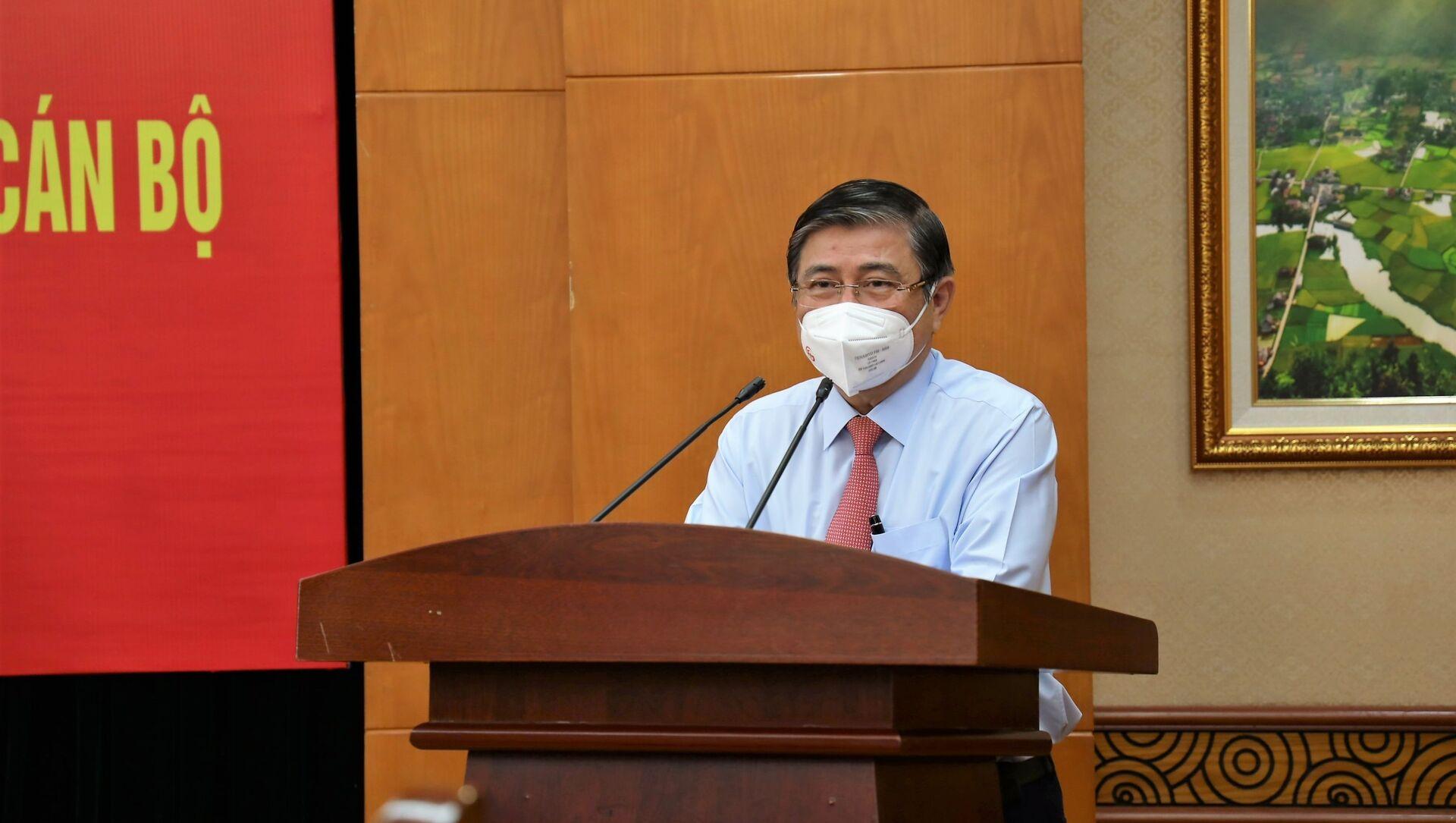 Đồng chí Nguyễn Thành Phong, Uỷ viên Trung ương Đảng, Phó trưởng Ban Kinh tế Trung ương phát biểu tại hội nghị. - Sputnik Việt Nam, 1920, 26.08.2021