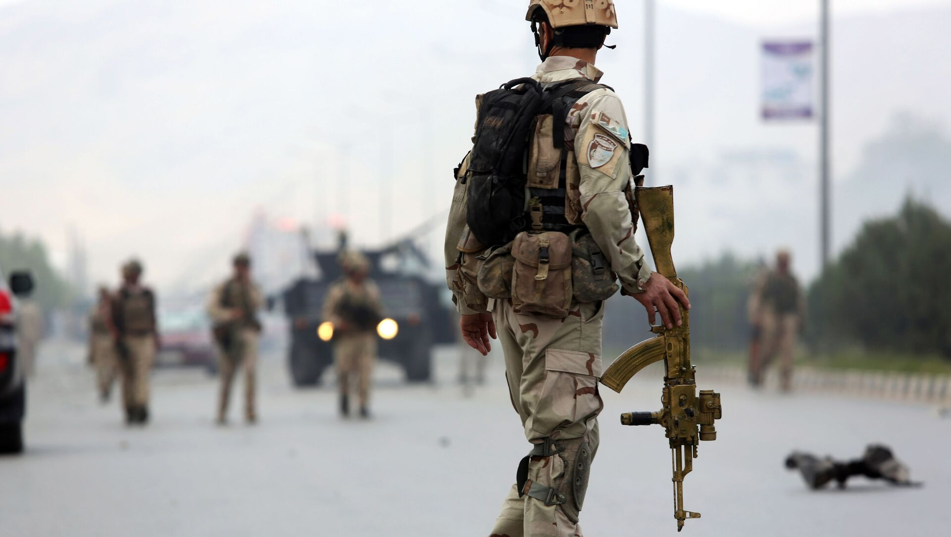 Lực lượng an ninh Afghanistan ở Kabul - Sputnik Việt Nam, 1920, 26.08.2021