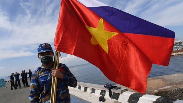 Chiến sĩ Việt Nam thi đấu Cúp Biển ở Vladivostok trong khuôn khổ Hội thao Quân đội Quốc tế lần thứ VII Army Games-2021 - Sputnik Việt Nam
