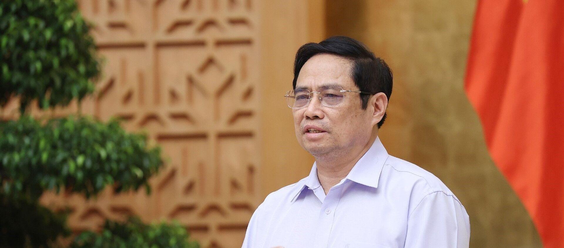 Thủ tướng Phạm Minh Chính phát biểu kết luận cuộc họp - Sputnik Việt Nam, 1920, 29.08.2021