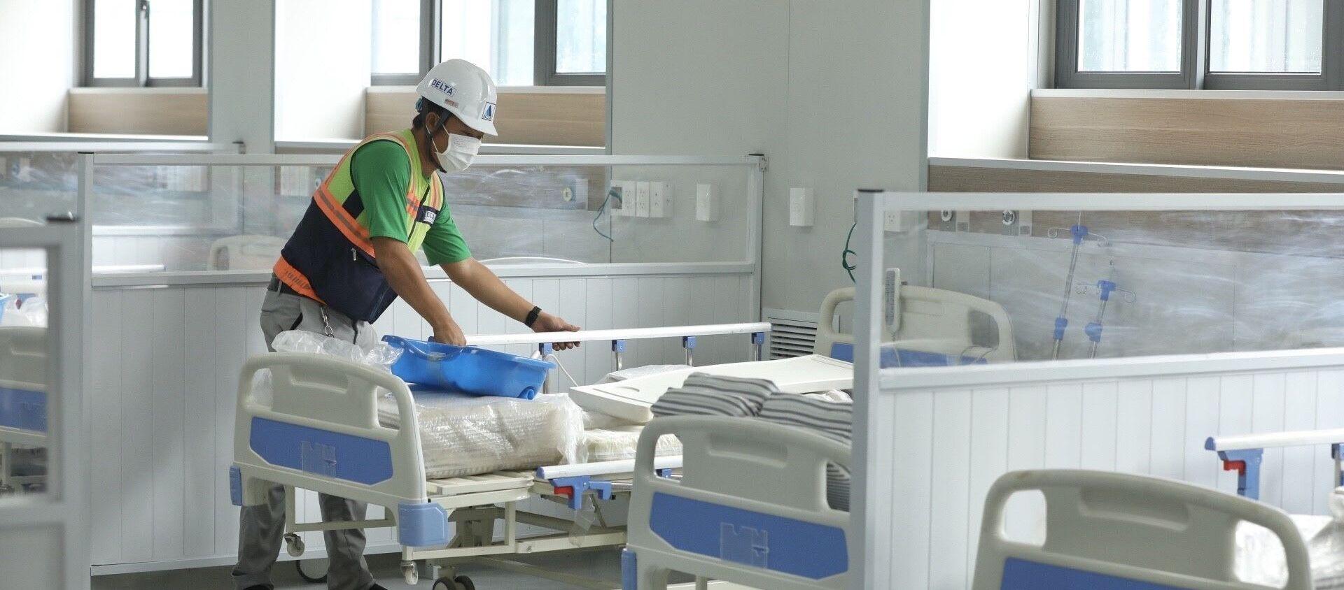 Bệnh viện dã chiến có quy mô 500 giường bệnh, điều trị cho bệnh nhân COVID-19 - Sputnik Việt Nam, 1920, 29.08.2021