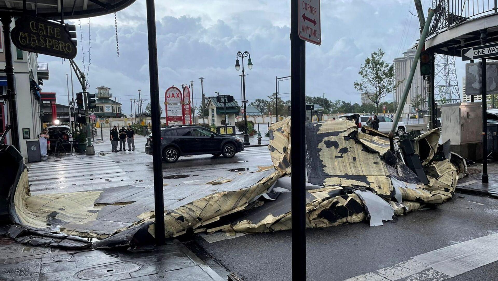 Hậu quả của cơn bão Ida ở New Orleans, bang Louisiana, Hoa Kỳ (30/08/2021) - Sputnik Việt Nam, 1920, 31.08.2021