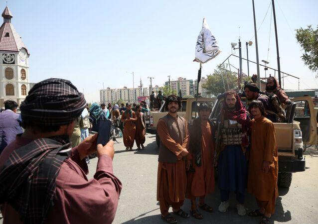 Các chiến binh Taliban (Tổ chức khủng bố bị cấm ở Nga) ở Kabul