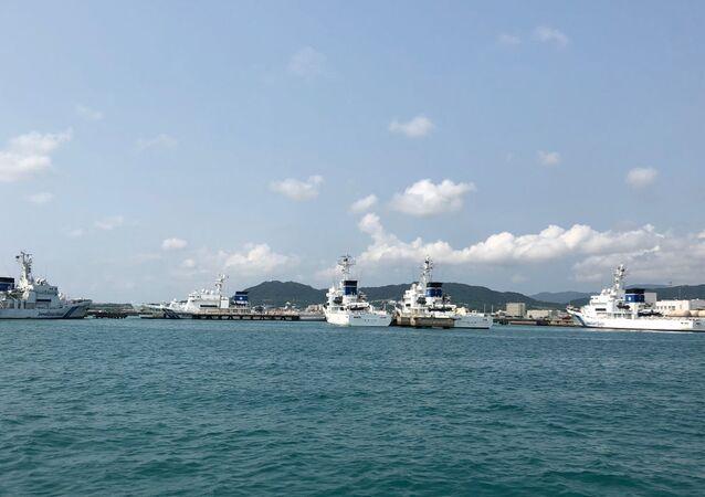 Tàu lớp JCG Kunigami tại căn cứ Ishigaki