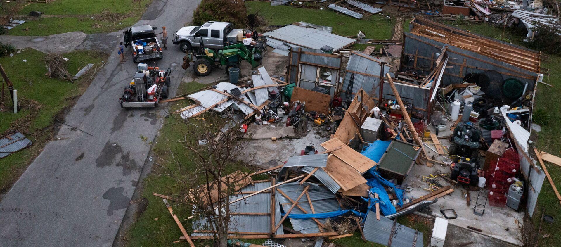 Những ngôi nhà bị tàn phá sau cơn bão Ida ở bang Louisiana - Sputnik Việt Nam, 1920, 02.09.2021