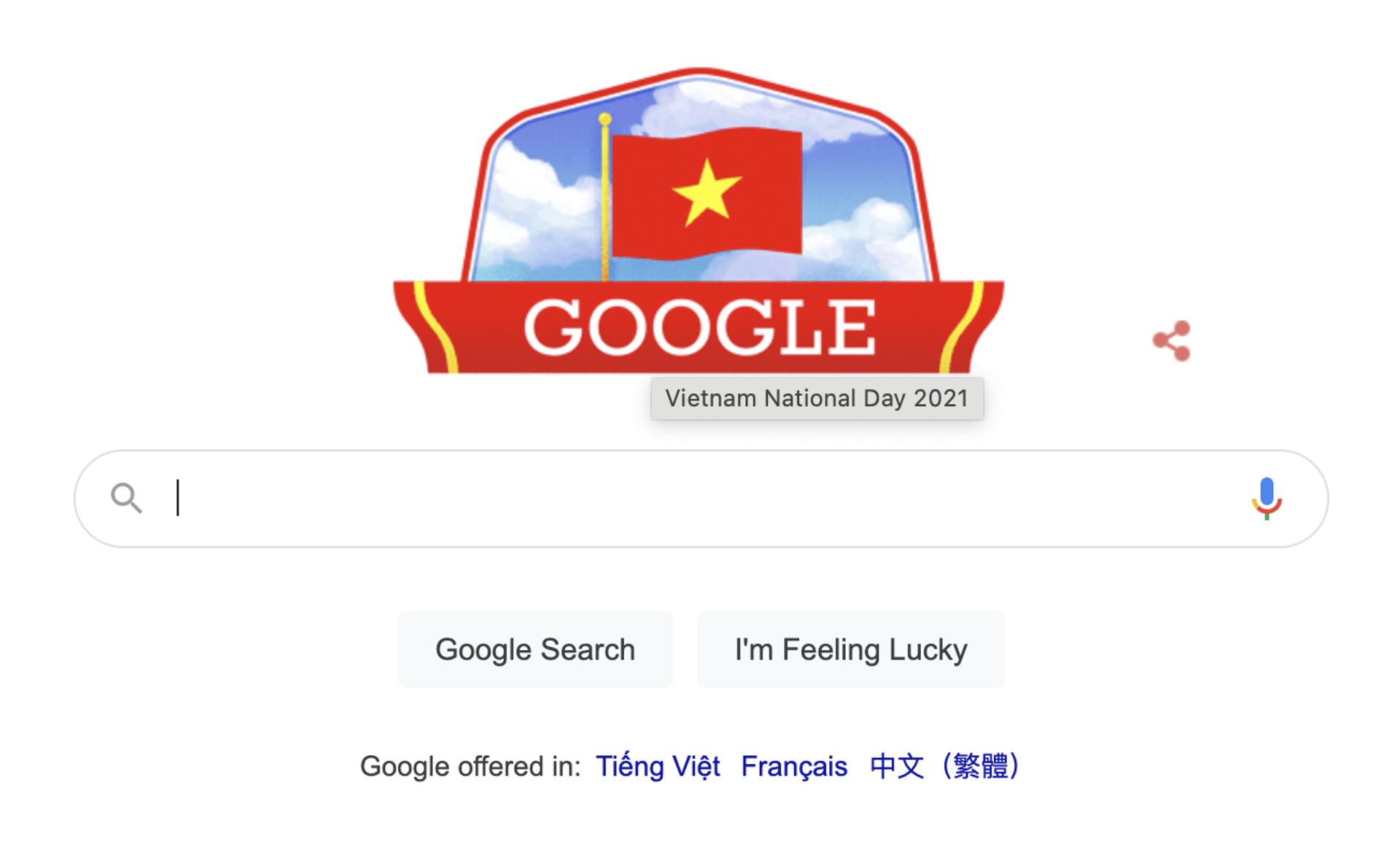 Google Doodle hôm nay cũng đã chúc mừng Quốc khánh Việt Nam 2021. - Sputnik Việt Nam, 1920, 05.10.2021