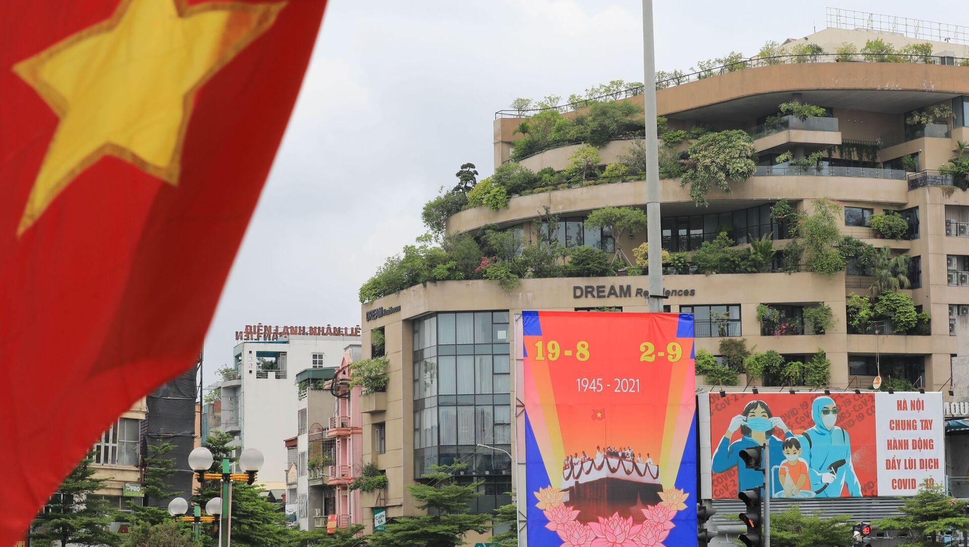 Tranh cổ động nhân lên lòng tự hào dân tộc trong ngày Quốc khánh. - Sputnik Việt Nam, 1920, 02.09.2021