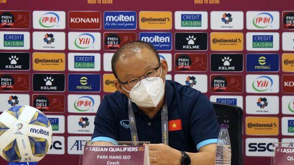 HLV Park Hang Seo tại buổi họp báo. - Sputnik Việt Nam