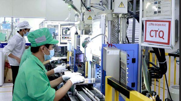 Công ty Youngbag Việt Nam Khu công nghiệp Bình Xuyên, Vĩnh Phúc là doanh nghiệp 100% vốn Hàn Quốc. - Sputnik Việt Nam