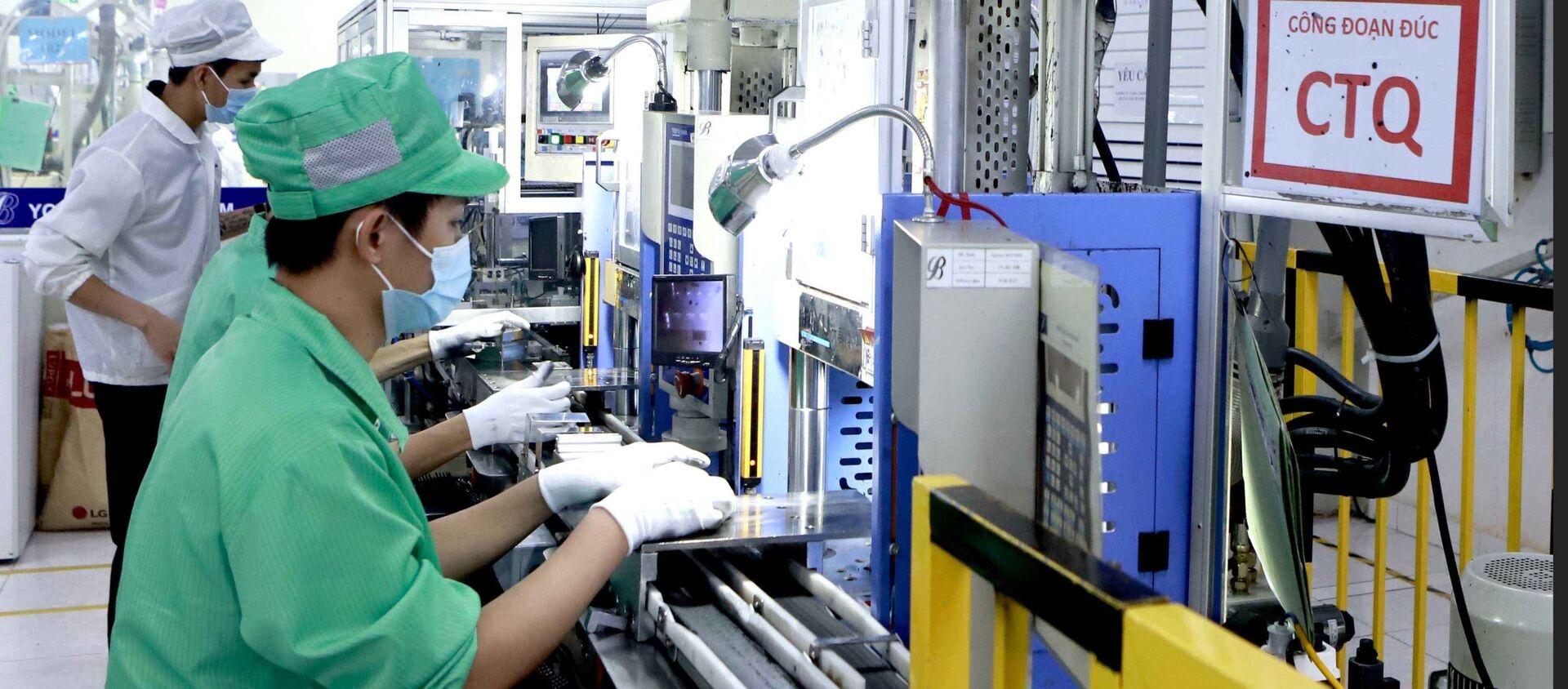 Công ty Youngbag Việt Nam Khu công nghiệp Bình Xuyên, Vĩnh Phúc là doanh nghiệp 100% vốn Hàn Quốc. - Sputnik Việt Nam, 1920, 02.09.2021
