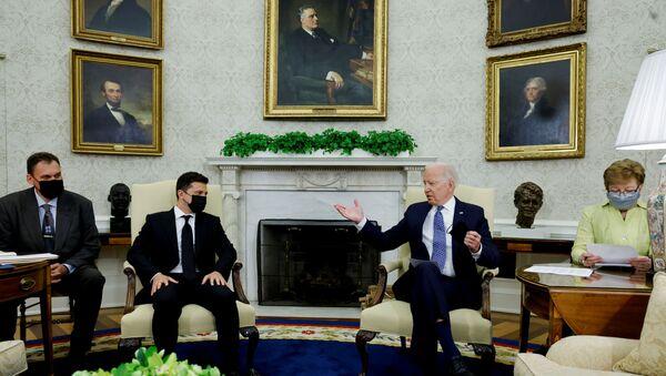 Cuộc gặp gỡ của Biden và Zelensky - Sputnik Việt Nam