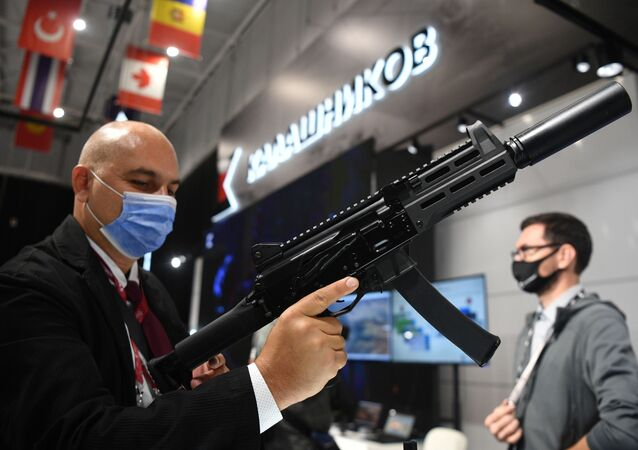 Súng tiểu liên PPK-20, được giới thiệu trong triển lãm tại Diễn đàn Quốc tế Army-2021