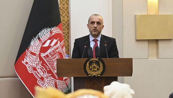 Cựu Phó Tổng thống Afghanistan Amrullah Saleh tại một sự kiện tại Phủ Tổng thống Afghanistan ở Kabul - Sputnik Việt Nam