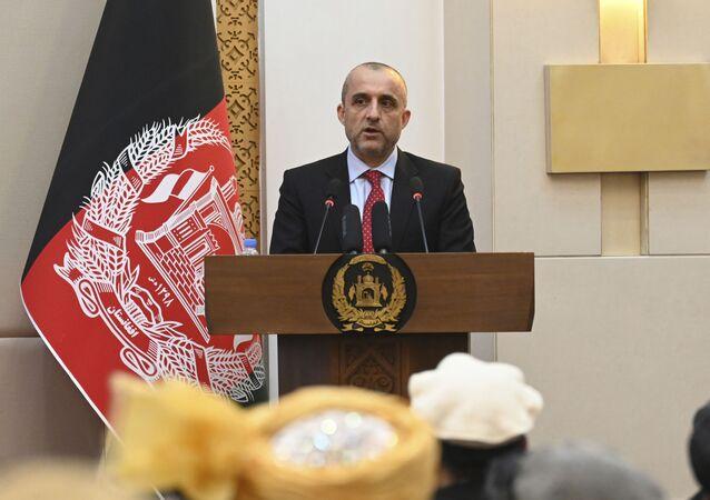 Cựu Phó Tổng thống Afghanistan Amrullah Saleh tại một sự kiện tại Phủ Tổng thống Afghanistan ở Kabul