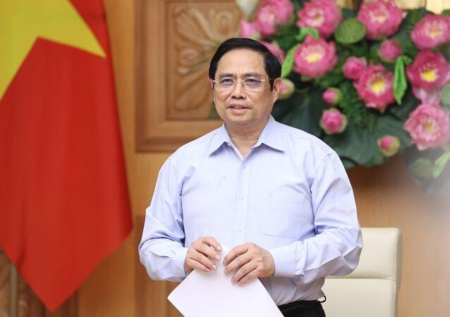 Thủ tướng Phạm Minh Chính phát biểu tại buổi làm việc.