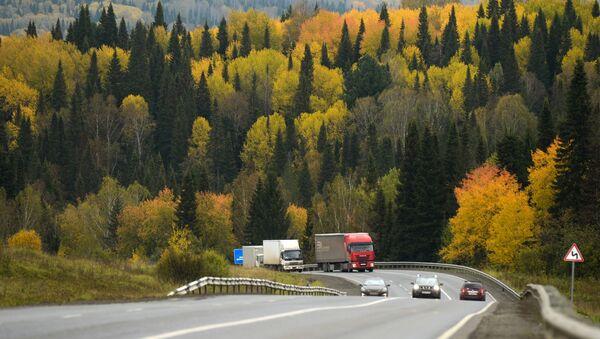 Đường cao tốc liên bang R255 Siberia ở vùng Kemerovo - Sputnik Việt Nam