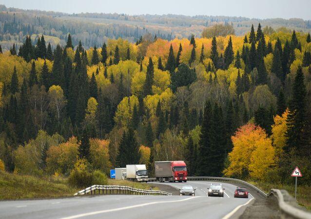 Đường cao tốc liên bang R255 Siberia ở vùng Kemerovo