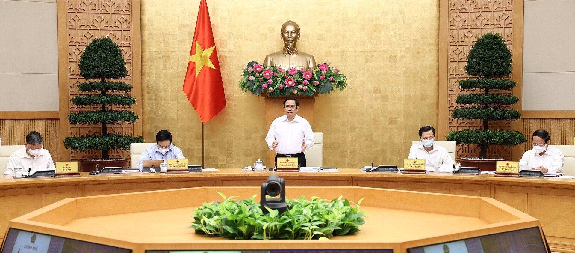 Thủ tướng Phạm Minh Chính chủ trì phiên họp - Sputnik Việt Nam, 1920, 07.09.2021