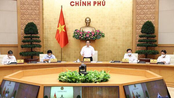 Thủ tướng Phạm Minh Chính chủ trì phiên họp - Sputnik Việt Nam