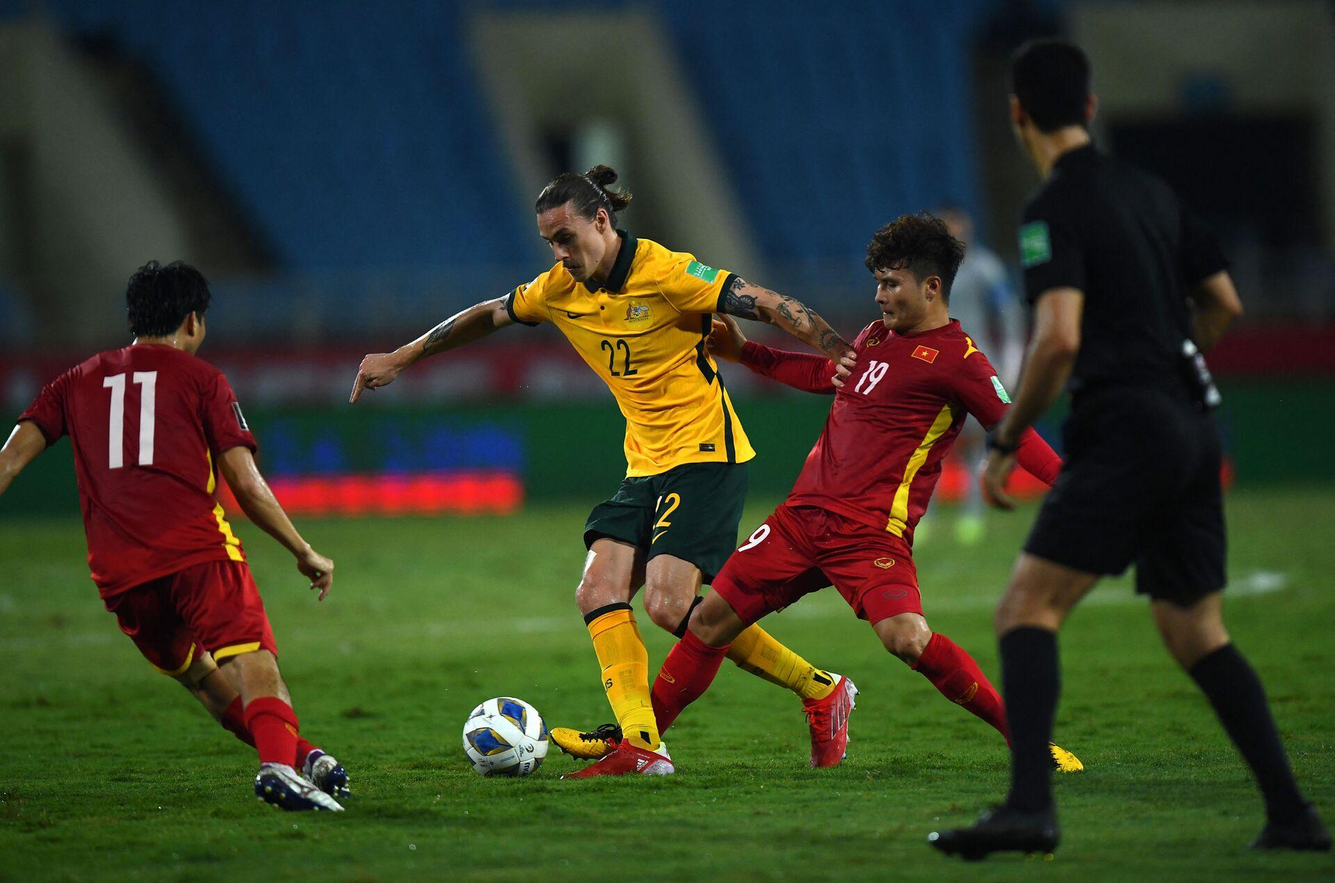 Trận đấu giữa tuyển Việt Nam và Australia trong khuôn khổ vòng loại World Cup 2022 khu vực châu Á - Sputnik Việt Nam, 1920, 05.10.2021