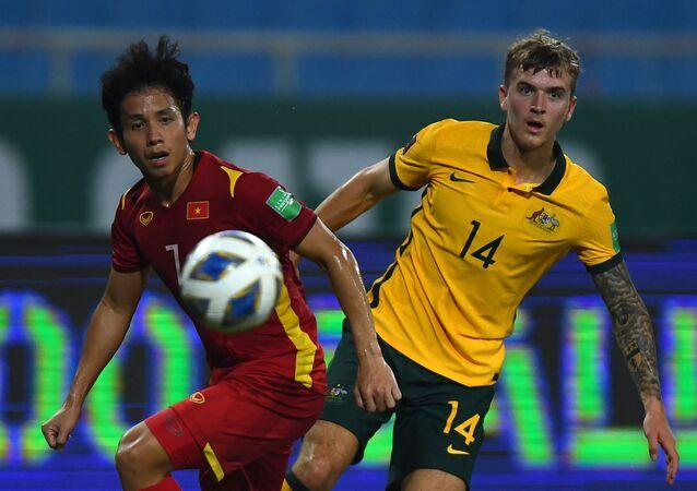 Trận đấu giữa tuyển Việt Nam và Australia trong khuôn khổ vòng loại World Cup 2022 khu vực châu Á