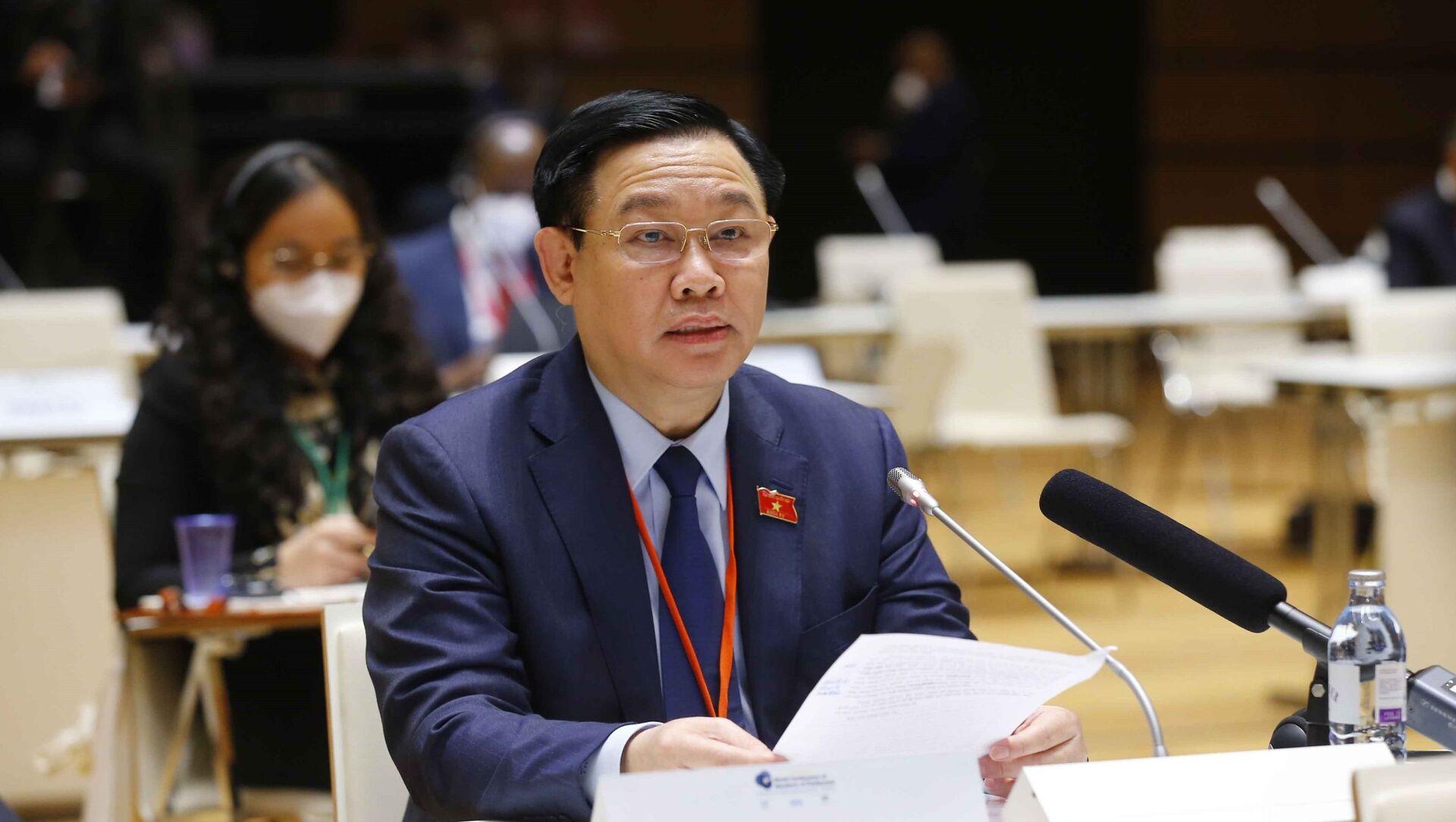 Chủ tịch Quốc hội Vương Đình Huệ dự Lễ khai mạc Hội nghị các Chủ tịch Quốc hội thế giới lần thứ 5 - Sputnik Việt Nam, 1920, 08.09.2021