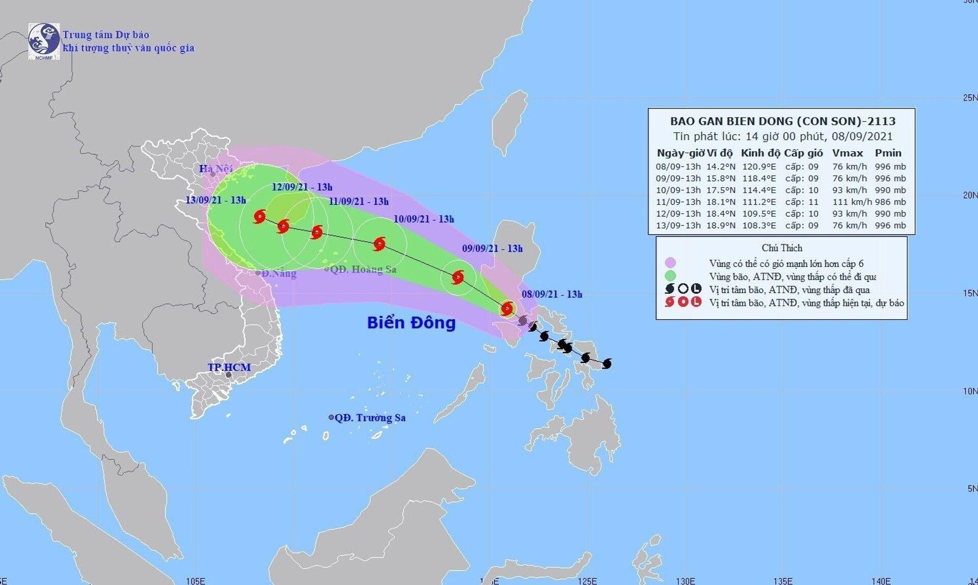 Bản đồ đường đi của bão CONSON - Sputnik Việt Nam, 1920, 05.10.2021