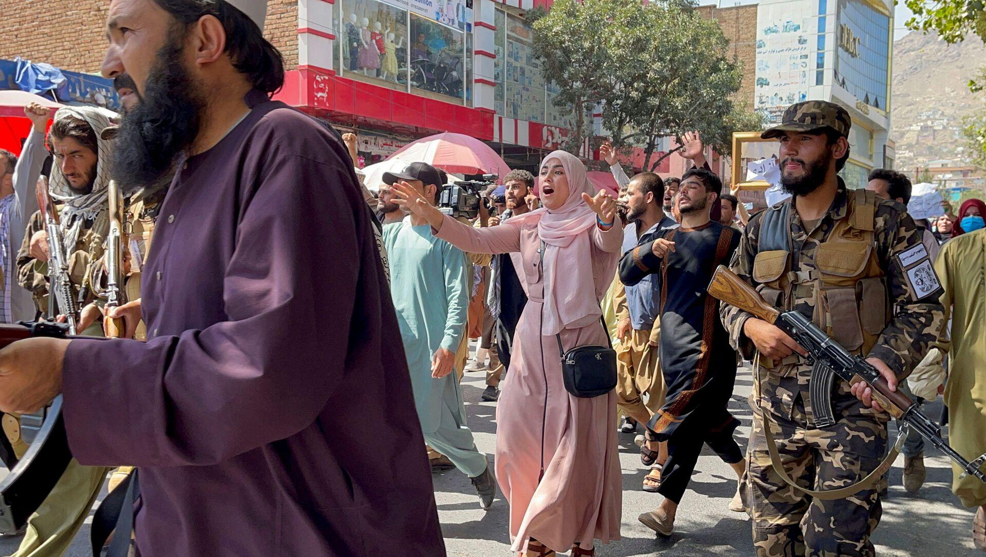 Taliban giải tán người biểu tình ở Kabul - Sputnik Việt Nam, 1920, 23.09.2021
